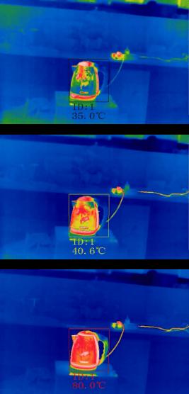 Etapes détection de température