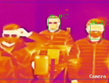 Caméra détection de température