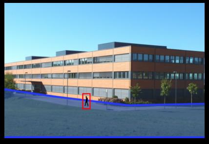 Détection de personne aux abords extérieurs d'un bâtiment