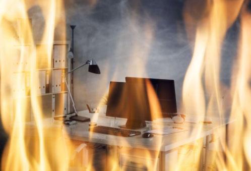 Incendie bureaux