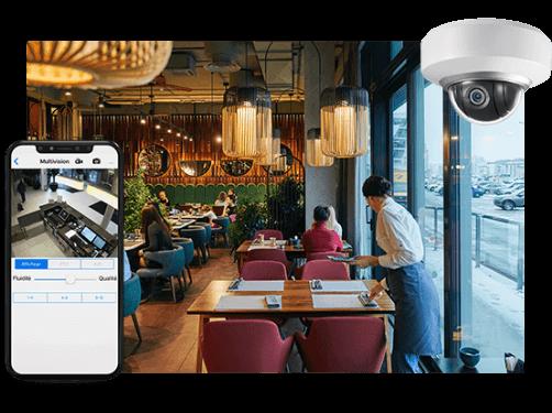 Restaurant vidéosurveillé