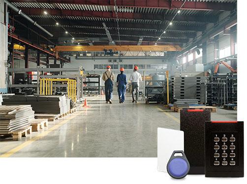 contrôle d'accès site industriel