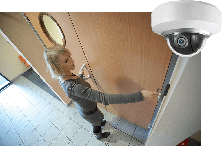 Access control with CCTV check