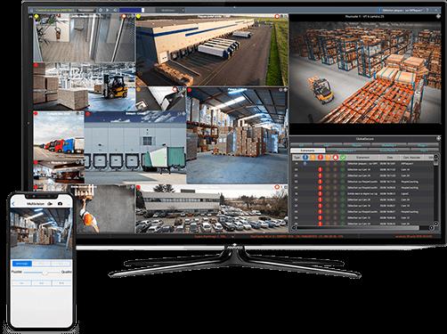 Surveillance vidéo transport et logistique